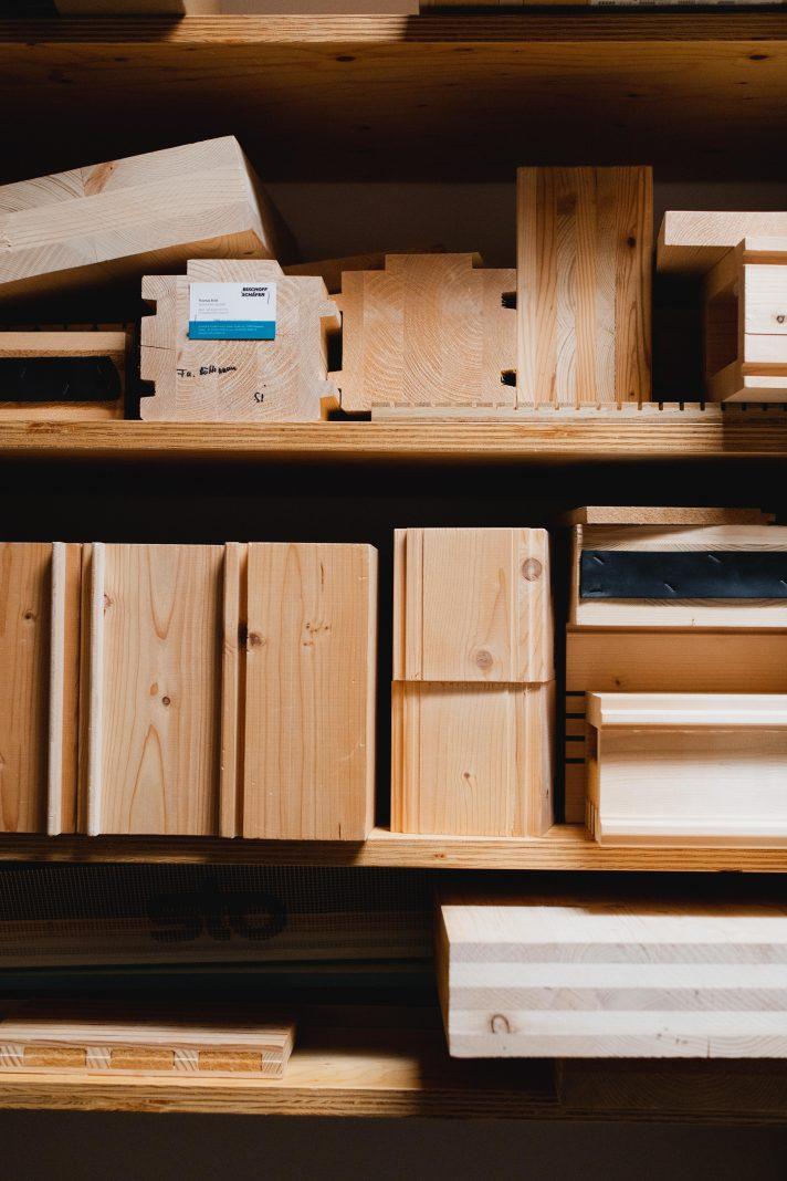 Materialbibliothek im Büro in Altensteig