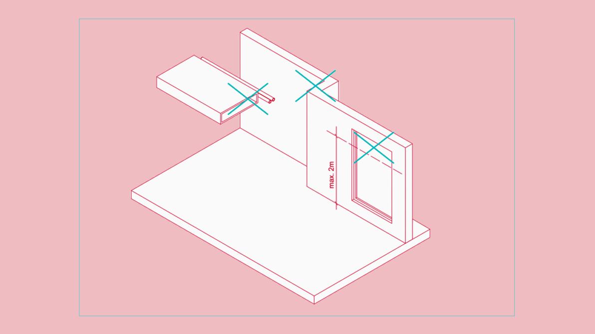 Bauliche Besonderheiten: Vor- und Rücksprünge sollten oberhalb von 2,0 Metern vermieden werden.