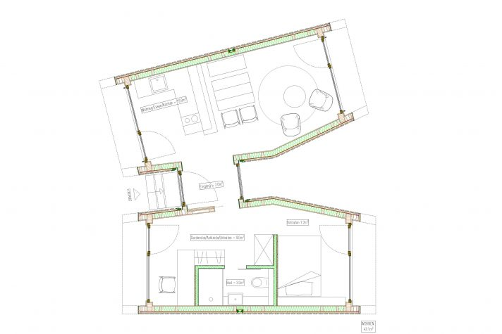 Grundriss: 2 Mohab Spaces