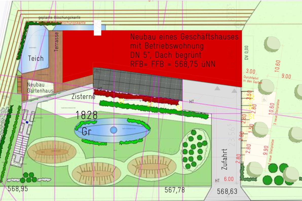 Lageplan mit Außenanlagen
