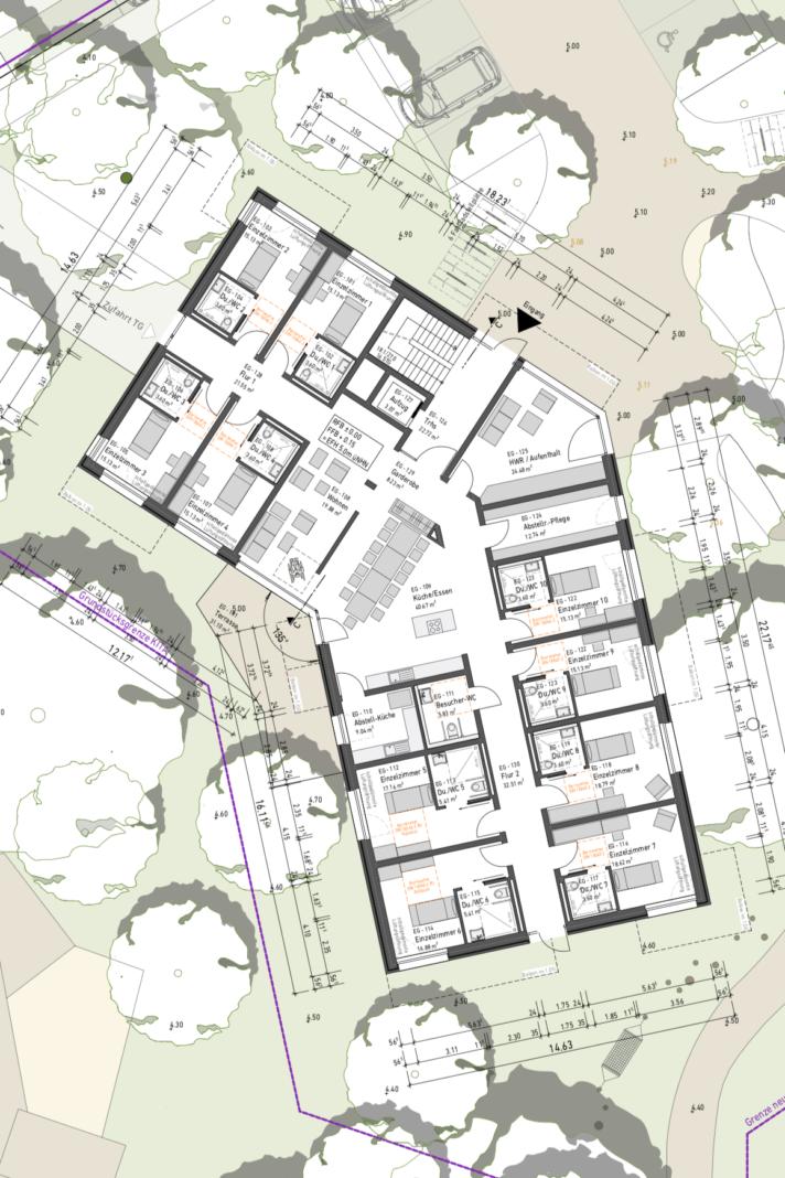 buerohauser_Projektentwicklung_Städtebau_Verdichtung Wohngebiet_Gebäude 3 EG